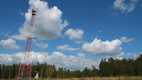 Communications  Tower. stock footage