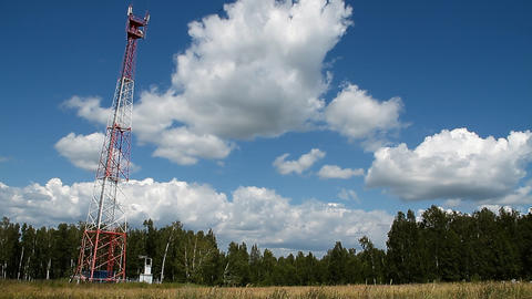 Communications tower Stock Video Footage