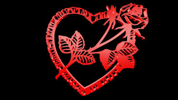 Rotation of Flower rose heart.love,red,symbol,heart,valentine,romance,illustrati Animation