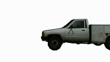 Moving of 3D utility truck.automobile,shipping,transportation,freight,cargo,vehi Animation