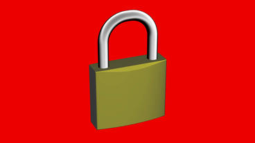 Rotation of 3D lock.security,padlock,safety,metal,safe,protection,steel,key Animation
