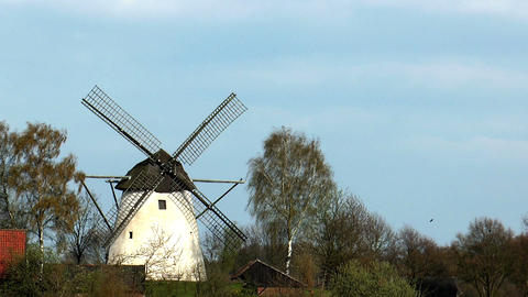 historic windmill Stock Video Footage