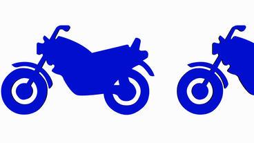 Rotation of 3D Motorcycle.motorbike,ride,bike,motor,cycle,transport,wheel,vehicl Animation