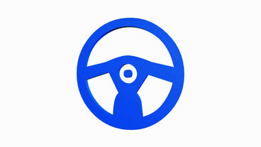 Rotation of 3D Steering wheel.drive,vehicle,control,transportation,auto,round,st Animation