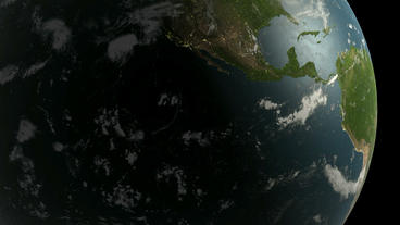 Rotation of 3D earth.planet,world,globe,continent,map,geography,ocean,sphere,blu Animation