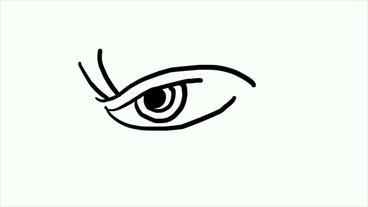 sketch of eye,Hand drawing video... Stock Video Footage