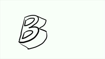 3d letter B,Hand drawing video material.pop,Fonts,Children,childhood,kindergarte Animation
