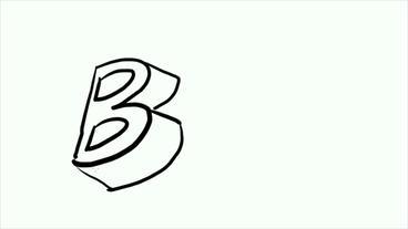 3d letter B,Hand drawing video material.pop,Fonts,Children,childhood,kindergarte Animation