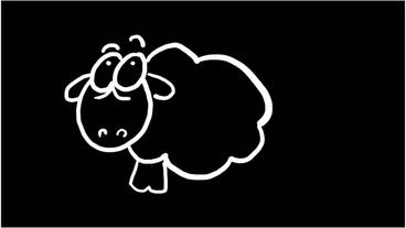 cartoon sheep on blackboard,mutton,Children... Stock Video Footage
