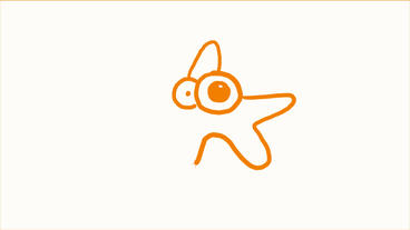 Stick figure of starfish,Hand drawing video material,sketch.childhood,kindergarten,naive,cute,cartoo Animation