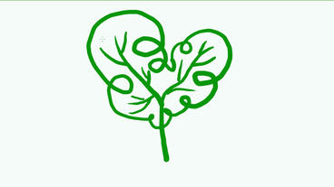 drawing of green tree,Hand painting video... Stock Video Footage