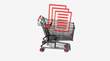 Shopping Cart and documentation.retail,buy,cart,shop,basket,sale,customer,discou Animation
