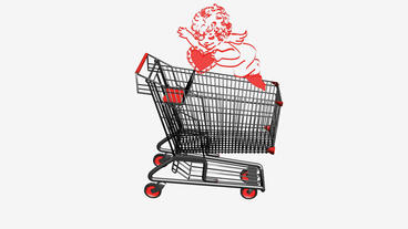 Shopping Cart and Angel.retail,buy,cart,shop,basket,sale,customer,discount,super Animation