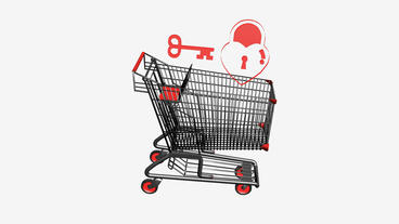 Shopping Cart,Key and lock.retail,buy,cart,shop,basket,sale,customer,discount,su Animation