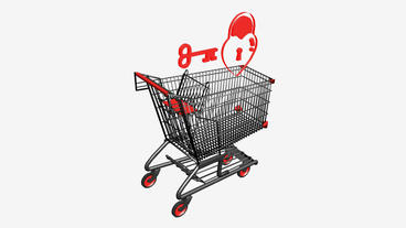 Shopping Cart,Key and... Stock Video Footage