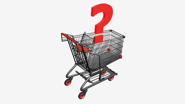 Shopping Cart and Question... Stock Video Footage