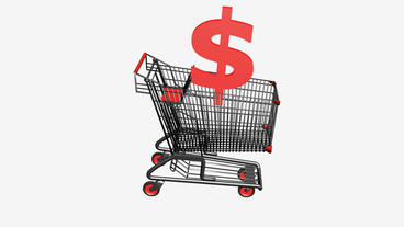 Shopping Cart with dollar.retail,buy,cart,design,shop,basket,sale,customer,disco Animation