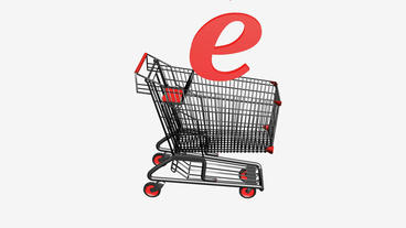 Shopping Cart with Letter... Stock Video Footage