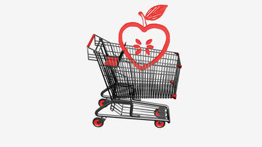 Shopping Cart and heart apple.retail,buy,cart,shop,basket,sale,customer,discount Animation