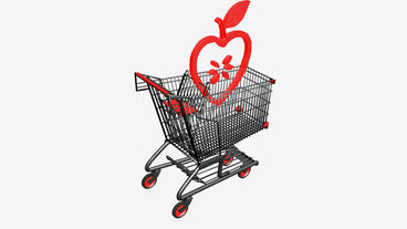 Shopping Cart and heart... Stock Video Footage