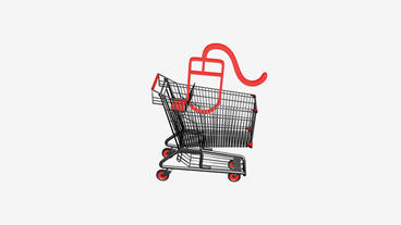 Shopping Cart and mouse.retail,buy,cart,design,shop,basket,sale,customer,discoun Animation