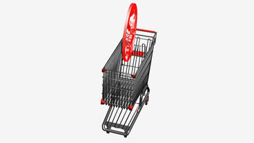 Shopping cart and people... Stock Video Footage