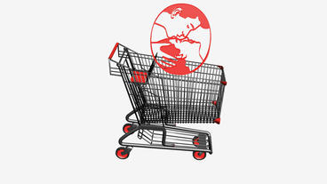Shopping cart and people kissing.retail,buy,cart,design,shop,basket,sale,custome Animation
