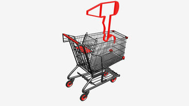 Shopping Cart and Hair... Stock Video Footage