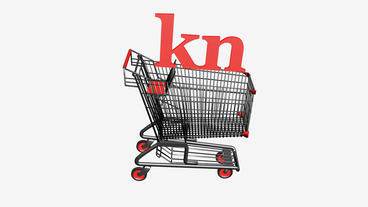 Shopping Cart with kn Kuna... Stock Video Footage
