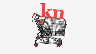 Shopping Cart with kn Kuna money.retail,buy,cart,shop,basket,sale,discount,super Animation