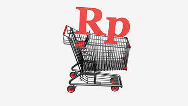 Shopping Cart with Rp Rupiahs... Stock Video Footage