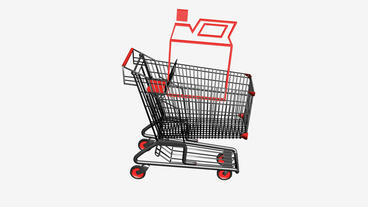 Shopping Cart and Gasoline.retail,buy,cart,shop,basket,sale,customer,supermarket Animation