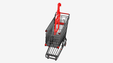 Shopping Cart and Spray... Stock Video Footage