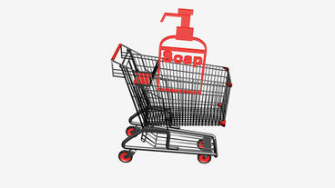 Shopping Cart and Spray bottle.retail,buy,cart,shop,basket,sale,customer,superma Animation