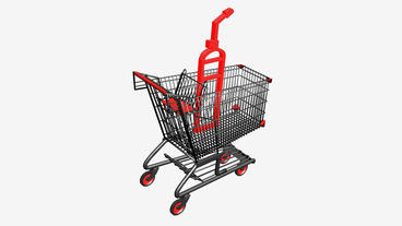 Shopping Cart and Fire... Stock Video Footage
