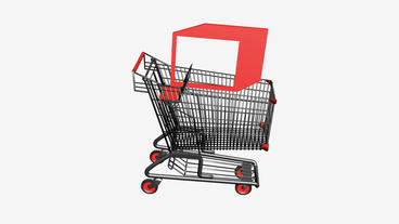 Shopping Cart and boxes.retail,buy,cart,design,shop,basket,sale,discount,superma Animation