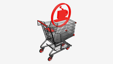 Shopping Cart and Tea... Stock Video Footage