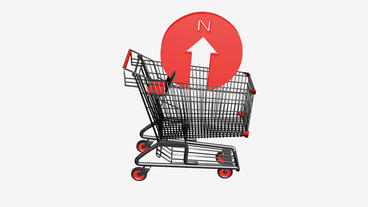 Shopping Cart and Compass... Stock Video Footage