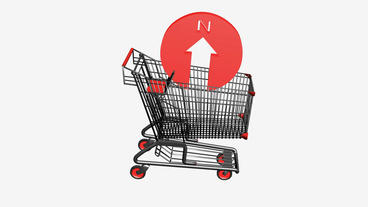 Shopping Cart and Compass South.retail,buy,cart,shop,basket,sale,discount,superm Animation