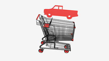 Shopping cart and transport... Stock Video Footage