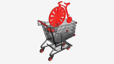 Shopping Cart and... Stock Video Footage