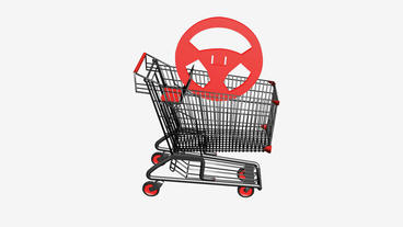 Shopping Cart and Steering wheel.retail,buy,cart,shop,basket,sale,Tires,buttons Animation