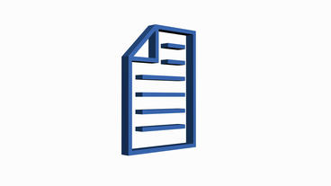 Rotation Of The Documents Icon.storage,paper,data,icon,archive,3d,information stock footage