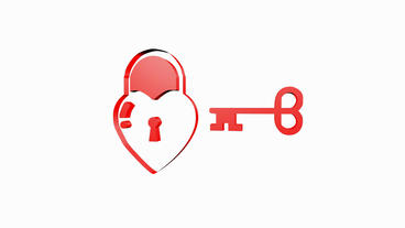 Rotation of 3D heart Locks.keys,switches,tips,methods,solutions,programs,wisdom, Animation