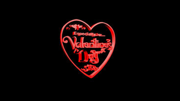 Rotation of 3D Valentine's Day... Stock Video Footage