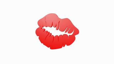 Rotation of 3D lip.mouth,beautiful,makeup,lipstick,beauty,model,sensuality,skin, Animation
