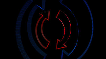 Rotation of 3D Regeneration cycle symbol.repeat,again,logo,nature,laptop,network Animation