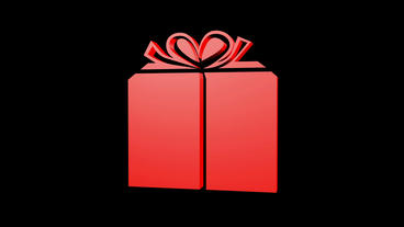 Rotation of 3D Gift boxe.birthday,gift,box,bow,christmas,xmas,holiday Animation