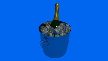 3D Ice wine.cool,cold,drink,frost,freeze,refreshing Animation