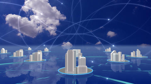Network City 5 As 1 HD Stock Video Footage